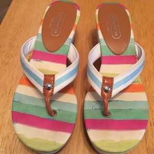 Coach Felicite Multi-color Wedge Sandal